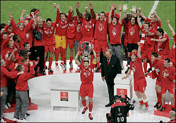 Liverpool, winners Champions League 2005